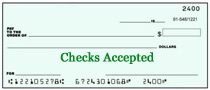 personal checks accepted